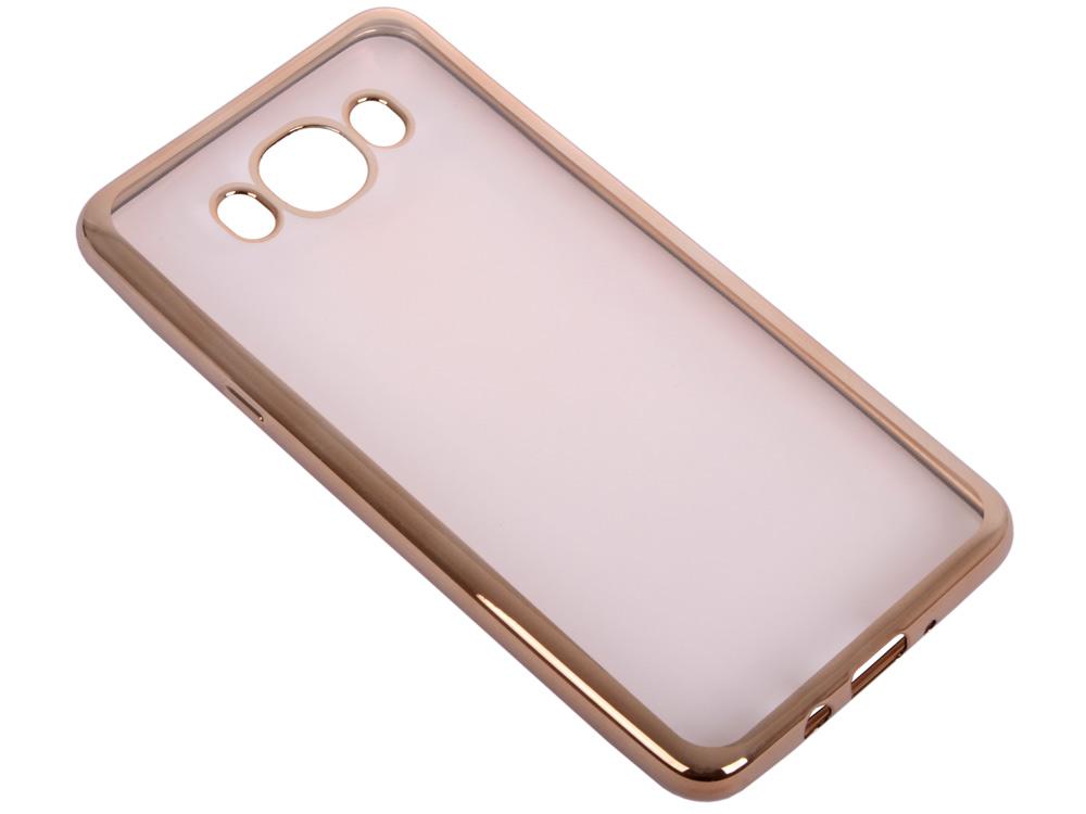 Силиконовый чехол с рамкой для Samsung Galaxy J7 (2016) DF sCase-30 (gold) аксессуар чехол samsung galaxy a7 2016 armor air slim gold gb f sga7 2016 gold