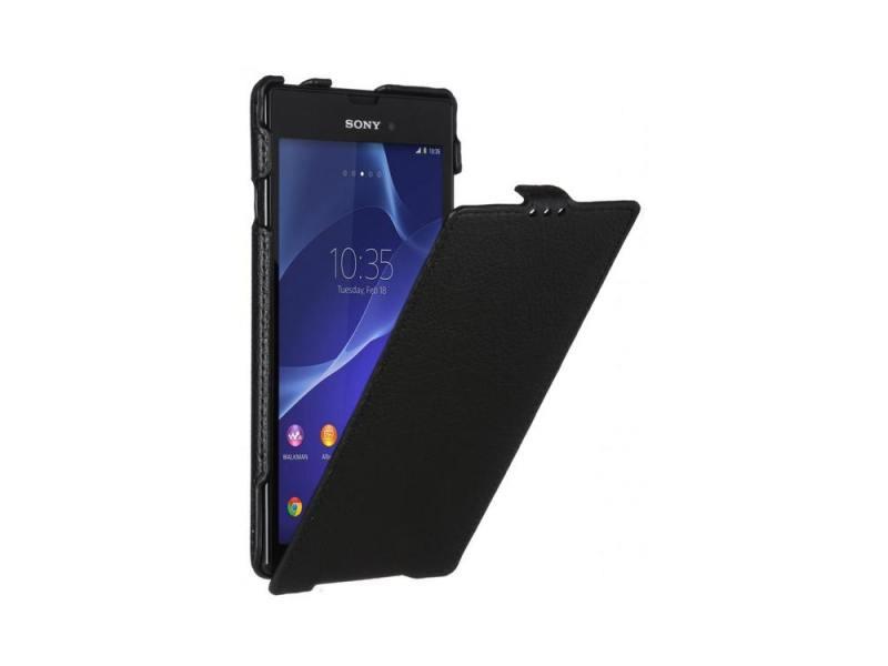 Чехол - книжка для Sony Xperia T3 iBox Premium Black флип, искусственная кожа ibox ut000004576 black