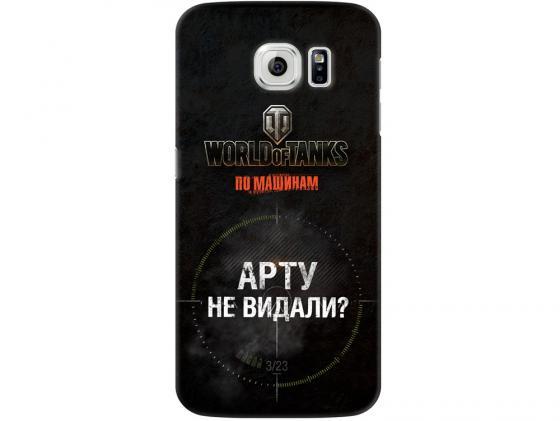 Чехол-накладка для Samsung Galaxy S6 edge Deppa Art Case Танки клип-кейс, поликарбонат