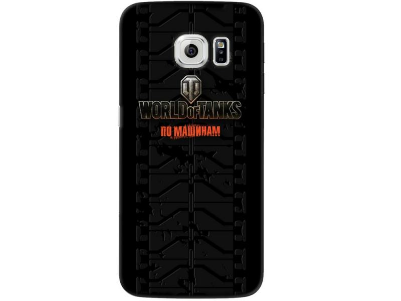 Чехол-накладка для Samsung Galaxy S6 edge Deppa Art Case Танки клип-кейс, поликарбонат все цены