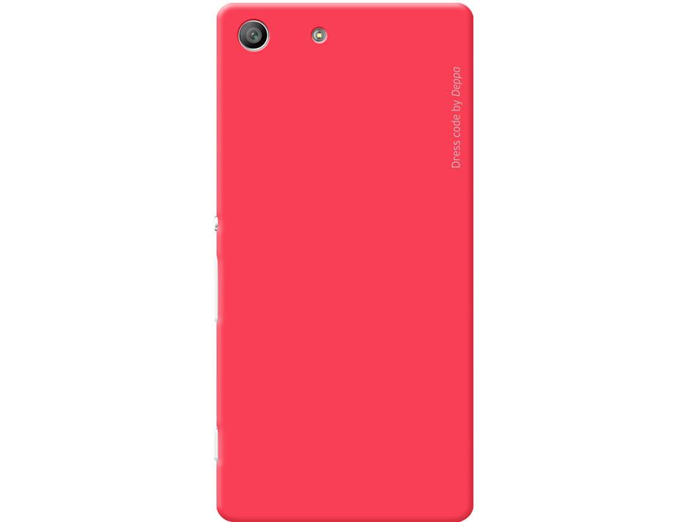 Чехол-накладка для Sony Xperia M5 Deppa Air Case 83207 Red клип-кейс, поликарбонат чехол накладка для sony xperia m5 deppa air case 83205 black клип кейс поликарбонат
