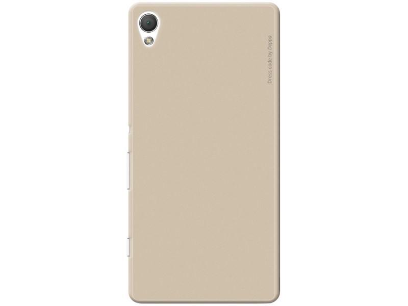 Чехол-накладка для Sony Xperia Z3+ Deppa Air Case 83191 Gold клип-кейс, поликарбонат чехол накладка для sony xperia m5 deppa air case 83205 black клип кейс поликарбонат