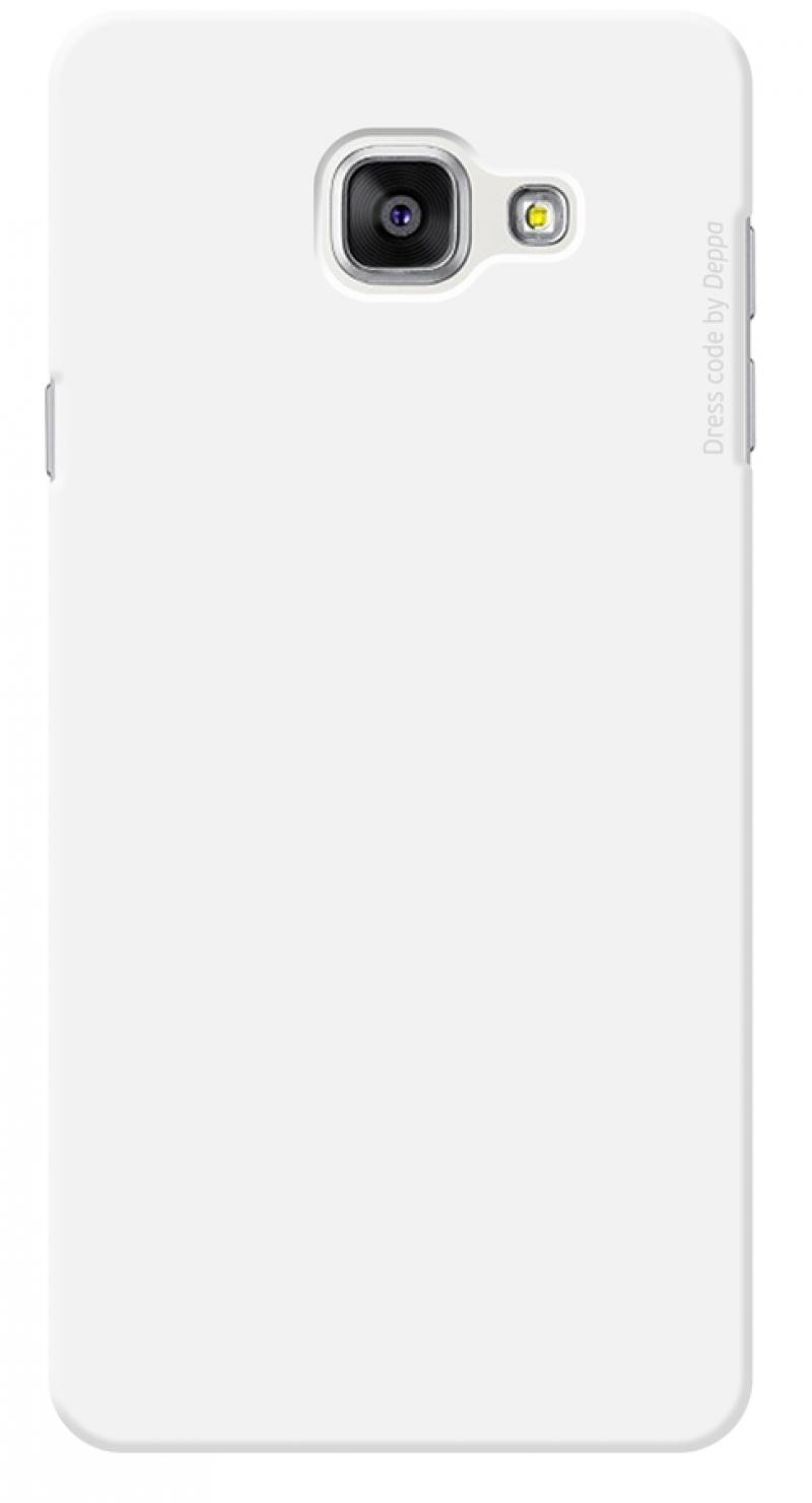 Чехол-накладка для Samsung Galaxy A7 2016 Deppa Air Case 83234 White клип-кейс, поликарбонат