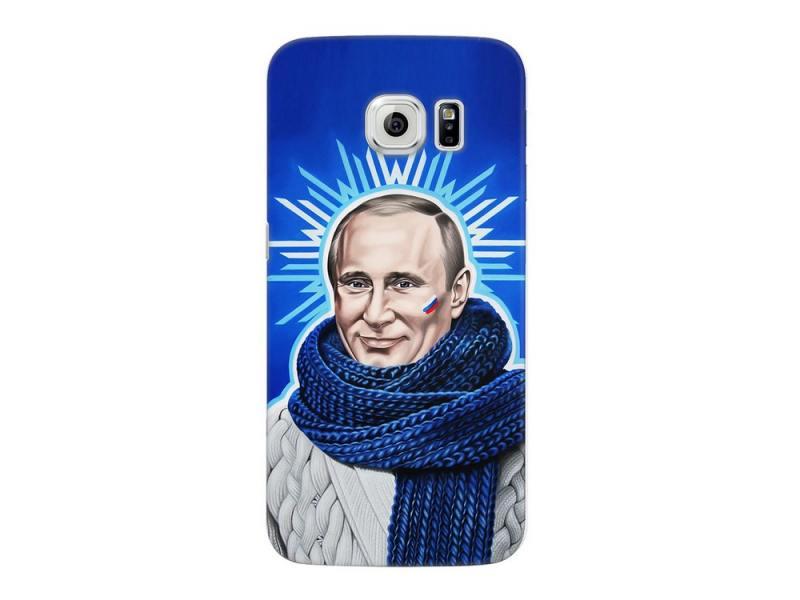 Чехол-накладка для Samsung Galaxy S6 edge Deppa Art Case Person Путин клип-кейс, поликарбонат
