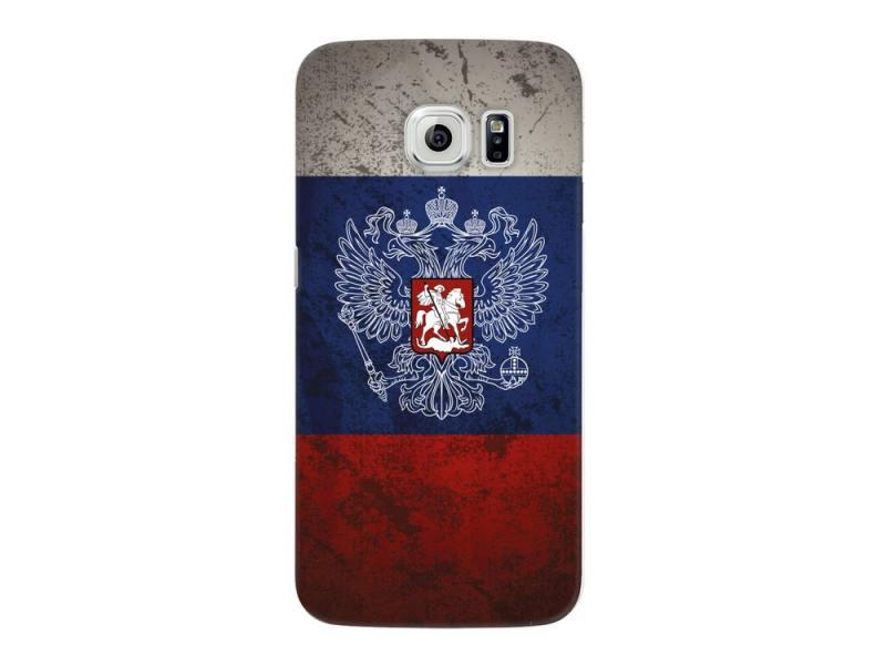 Чехол-накладка для Samsung Galaxy S6 edge Deppa Art Case Флаг клип-кейс, поликарбонат