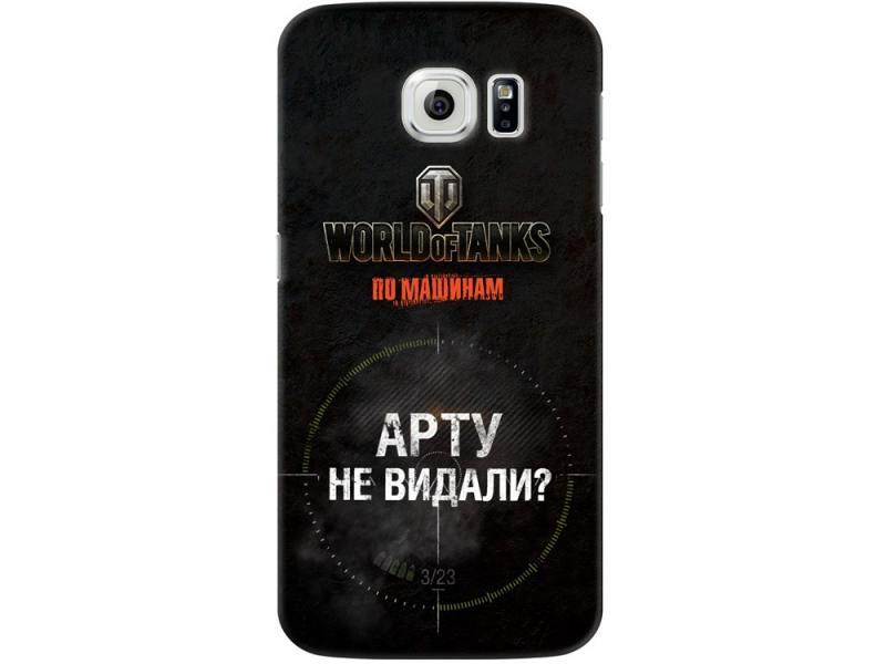 Чехол-накладка для Samsung Galaxy S6 Deppa Art Case Танки клип-кейс, поликарбонат alpine cde 195bt
