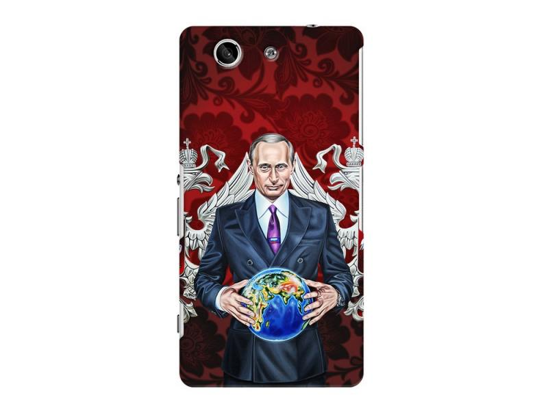 Чехол-накладка для Sony Xperia Z3 Compact Deppa Art Case Путин карта мира клип-кейс, поликарбонат цена