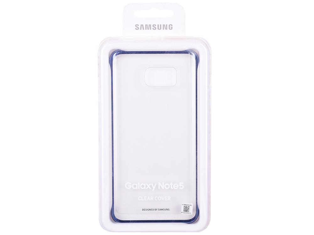 Чехол-накладка для Samsung Galaxy Note 5 СlCover Samsung EF-QN920CBEGRU Black клип-кейс, поликарбонат чехол для смартфона samsung для galaxy note 5 glocover золотистый ef qn920mfegru ef qn920mfegru