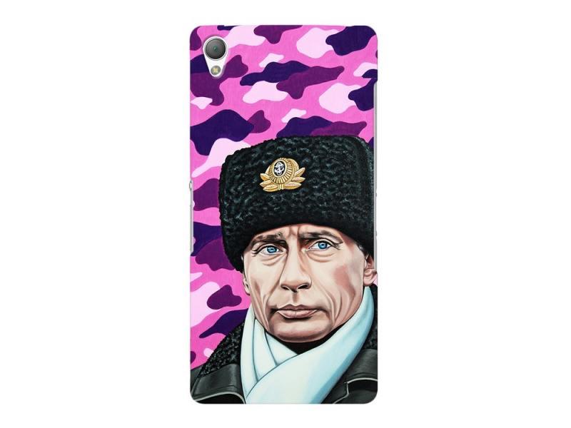 Чехол-накладка для Sony Xperia Z3 Deppa Art Case Person Путин клип-кейс, поликарбонат чехол накладка для sony xperia m5 deppa air case 83205 black клип кейс поликарбонат