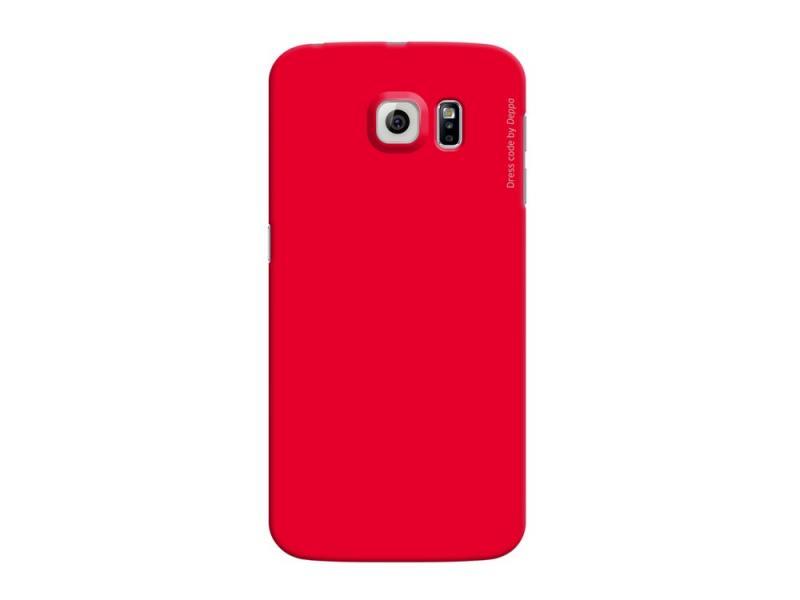 Чехол-накладка для Samsung Galaxy S6 edge Deppa Air Case 83187 Red клип-кейс, поликарбонат чехол накладка для samsung galaxy a3 deppa air case 83156 white клип кейс поликарбонат