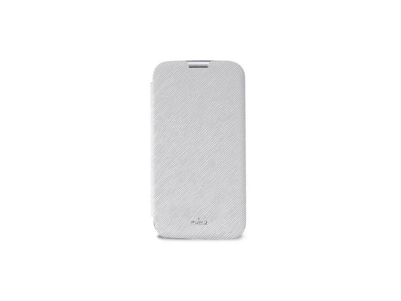 Чехол-книжка для Galaxy S5 PURO SGS5BOOKCCRYWHI White флип, полиуретан, искусственная кожа