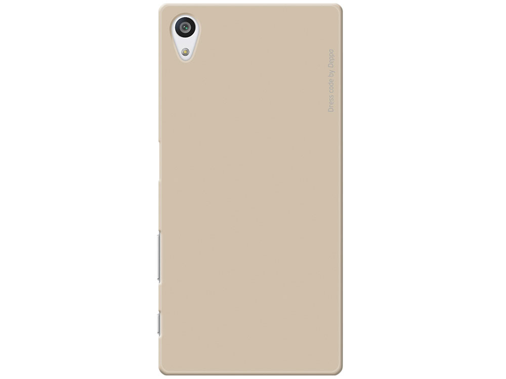 Чехол-накладка для Sony Xperia Z5 Premium Deppa Air Case 83213 Gold клип-кейс, поликарбонат