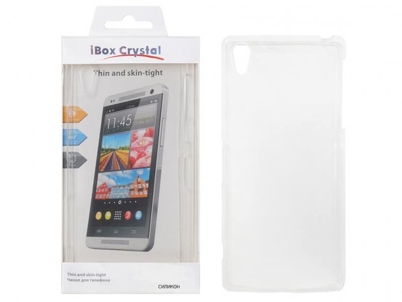 Чехол-накладка для HTC Desire 320 iBox Crystal клип-кейс, силикон чехол для meizu m5c g case slim premium накладка золотистый