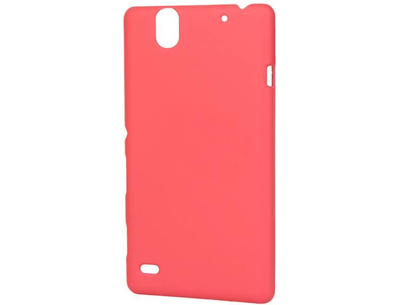 Чехол-накладка для Sony C4 Pulsar CLIPCASE PC Soft-Touch Red клип-кейс, пластик soft-touch чехол накладка для microsoft lumia 640 xl pulsar clipcase pc soft touch orange клип кейс пластик