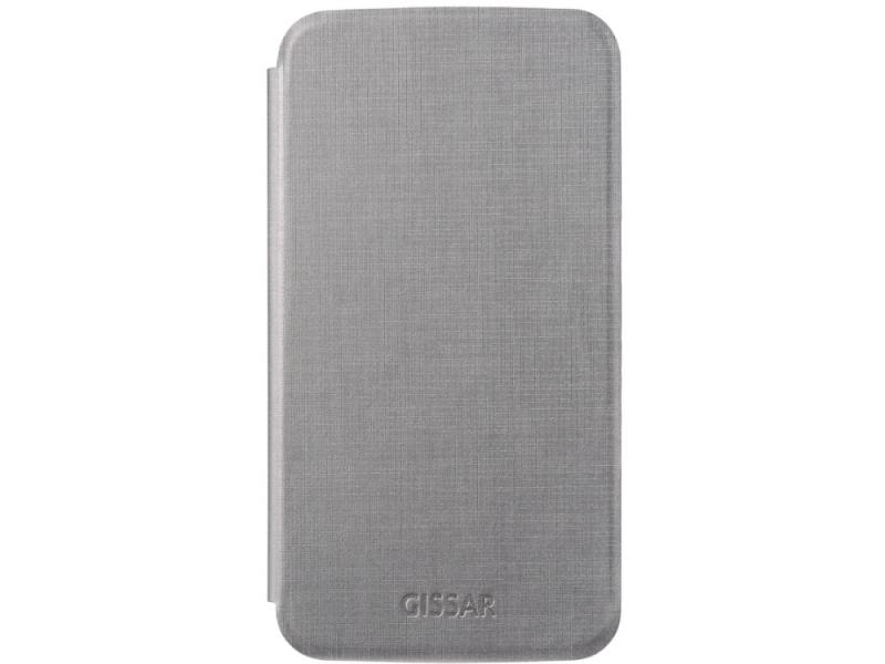 Чехол-книжка для Samsung Mega 6.3 Gissar Metallic Grey флип, искусственная кожа