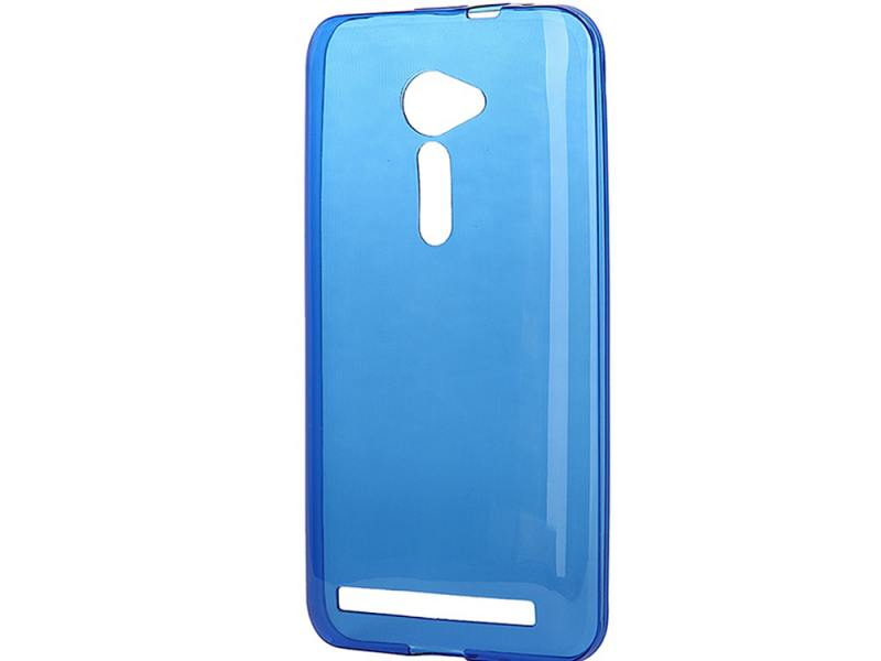 Чехол-накладка для Asus Zenfone 2 ZE500CL iBox Crystal Blue клип-кейс, силикон чехол накладка для samsung galaxy a7 ibox crystal клип кейс силикон