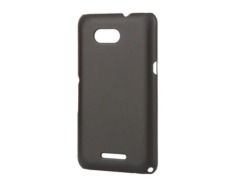 Чехол-накладка для Sony E4G Pulsar CLIPCASE PC Black клип-кейс, пластик чехол накладка для samsung galaxy e5 sm e500f ds pulsar clipcase pc рсс0014 black клип кейс пластик