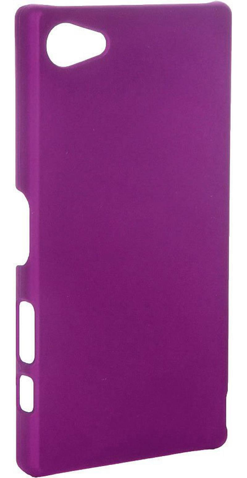 Чехол-накладка для Sony Z5 Compact Pulsar CLIPCASE PC Soft-Touch РСС0140 Purple клип-кейс, пластик цены