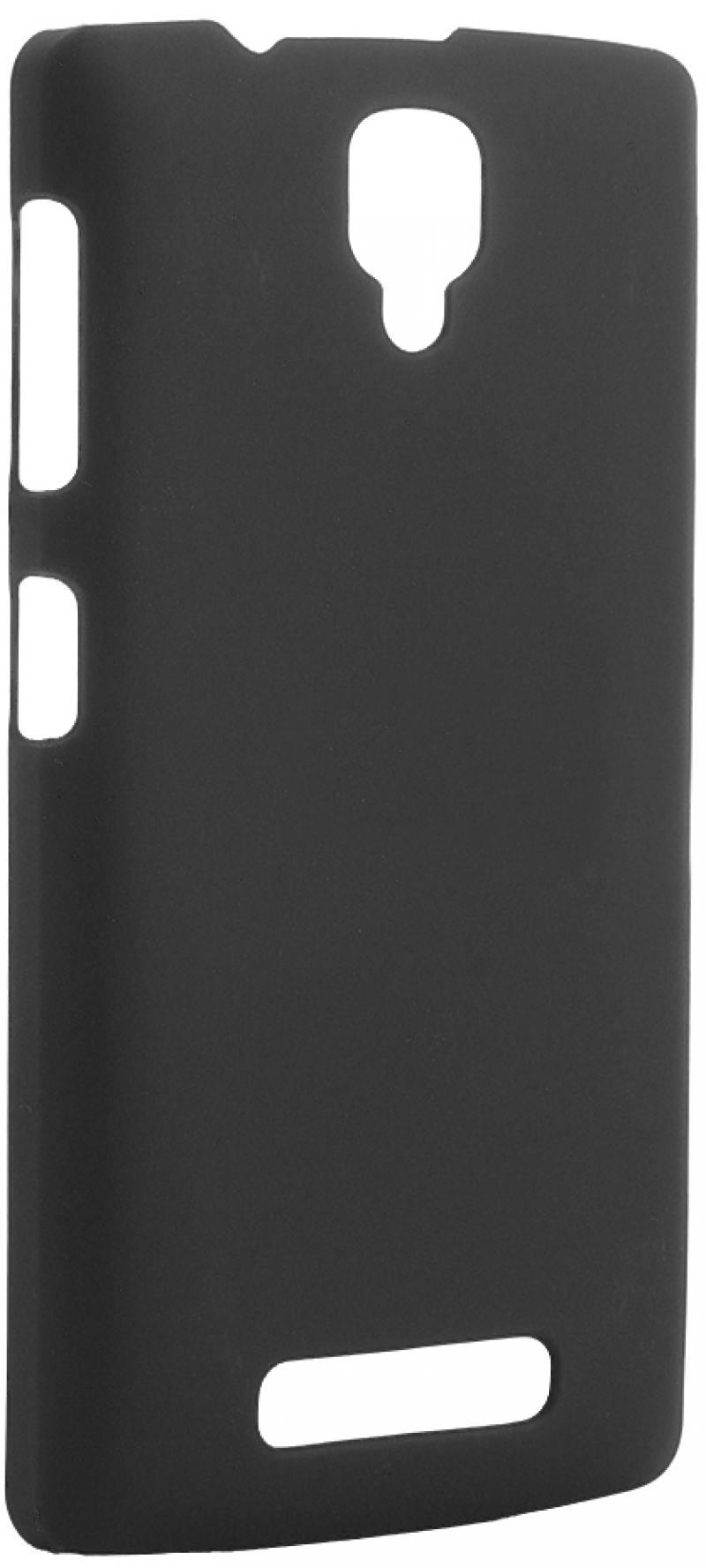 Чехол-накладка Pulsar CLIPCASE PC Soft-Touch для Lenovo A1000 (черная) чехол для lenovo a1000 силиконовый tpu белый 0 3 мм коллекция green cases