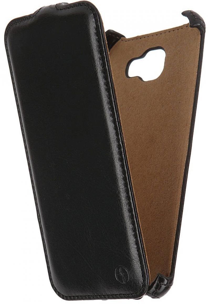 Чехол-книжка для Samsung Galaxy A7 2016 PULSAR SHELLCASE Black флип, искусственная кожа персик бабочка дизайн искусственная кожа флип кошелек карты держатель чехол для samsung galaxy a3 2016 a310