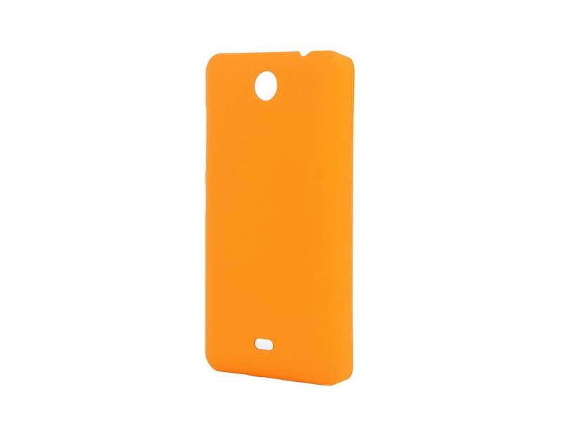 Чехол-накладка для Microsoft Lumia 430 Pulsar CLIPCASE PC Soft-Touch Orange клип-кейс, пластик все цены