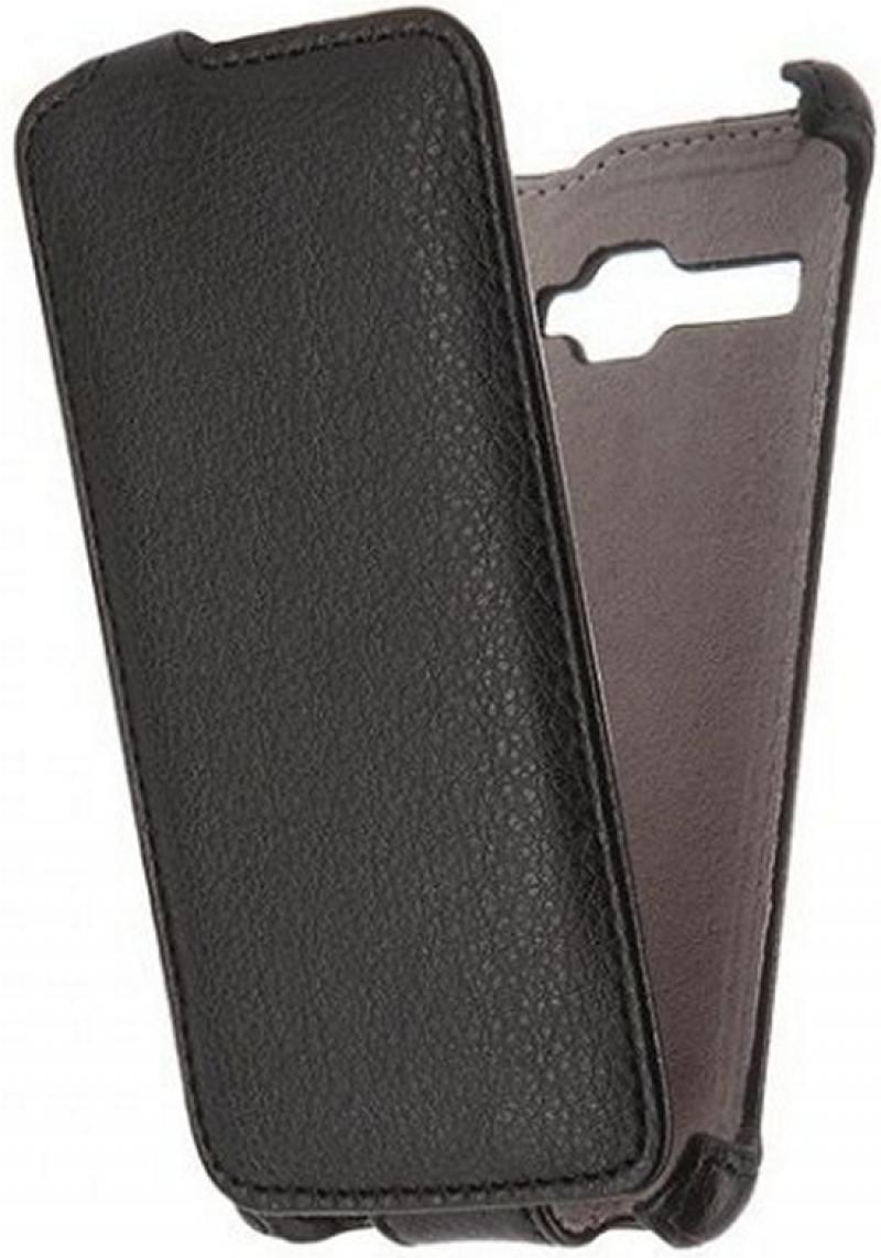 Чехол-книжка для FLY Stratus 1 FS401 PULSAR SHELLCASE Black флип, искусственная кожа чехол флип pulsar shellcase для fly nimbus 3 fs501 черный
