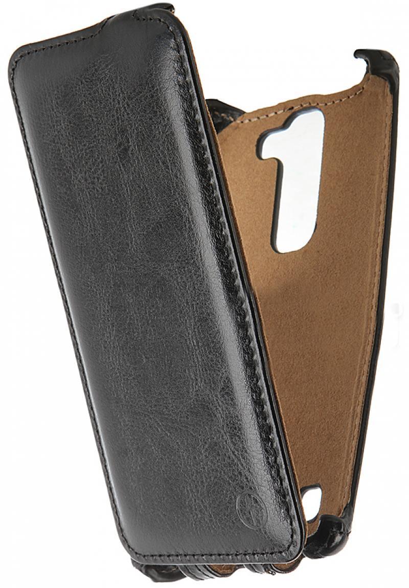 цены на Чехол-флип PULSAR SHELLCASE для LG K4 (черный)  в интернет-магазинах