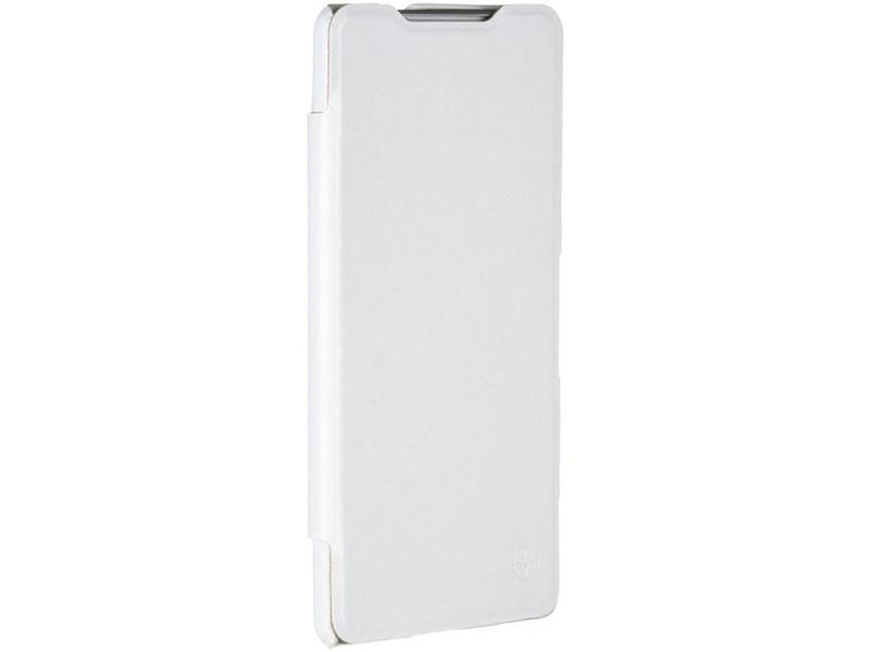 Чехол-книжка для Sony Xperia C5 Ultra Dual PULSAR SHELLCASE White флип, искусственная кожа чехол книжка gresso канцлер для sony xperia xa ultra черный