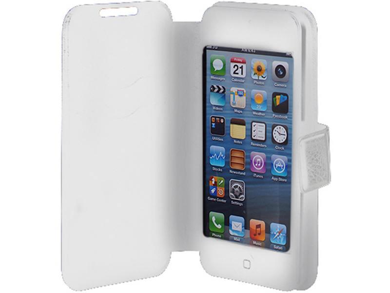 Чехол-книжка универсальный 3,5-4,2 iBox SLIDER Universal White флип чехол универсальный ibox slider universal слайдер для телефонов 3 5 4 2 белый