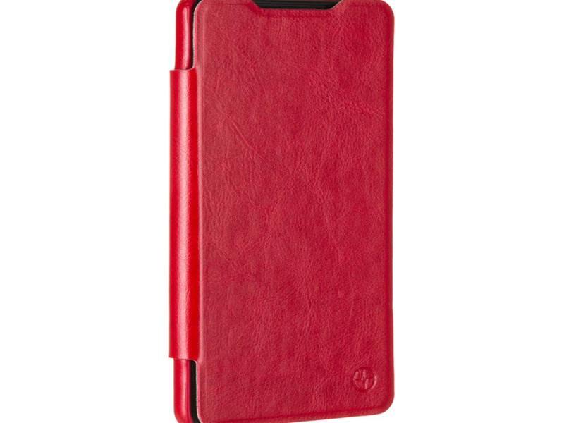 Чехол-книжка для Sony Xperia C5 Ultra PULSAR SHELLCASE Dual Red флип, искусственная кожа цена и фото
