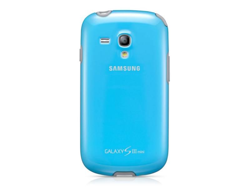 Чехол Samsung для Galaxy S 3 Mini GT-I8190 голубой EFC-1M7BLE