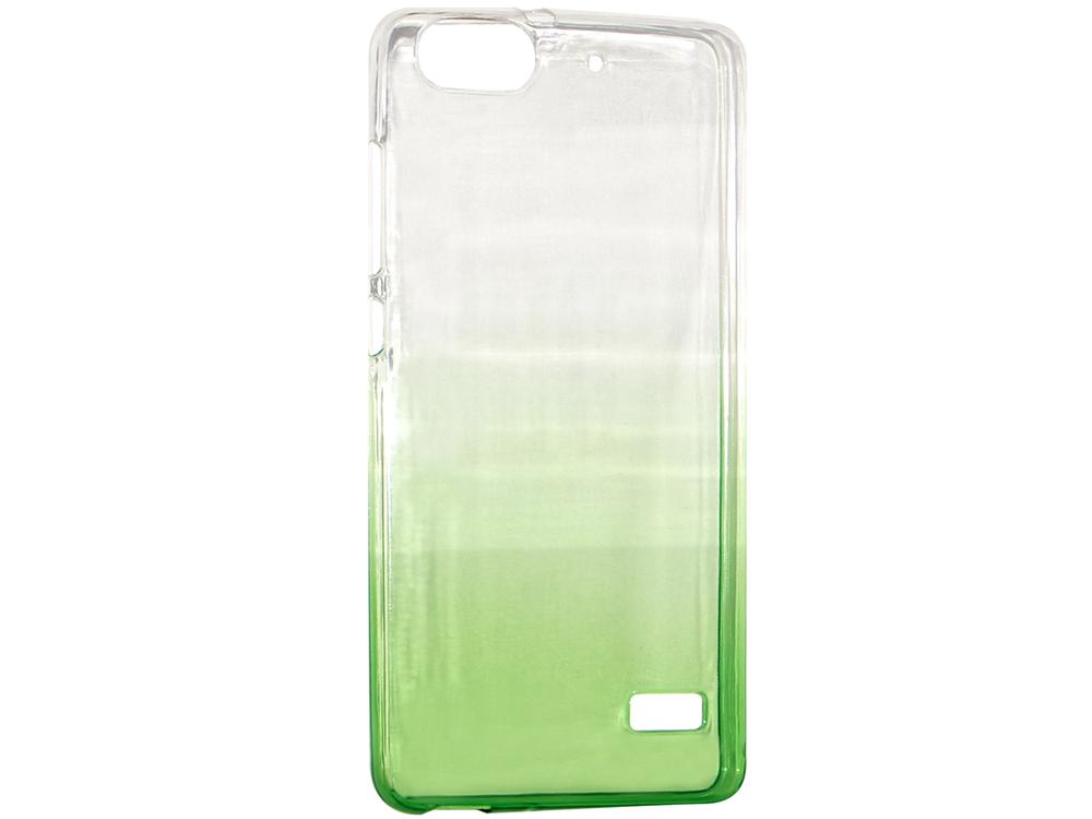 Крышка задняя для Huawei 4C Силикон Зелёный крышка задняя для huawei mate 8 силикон синий