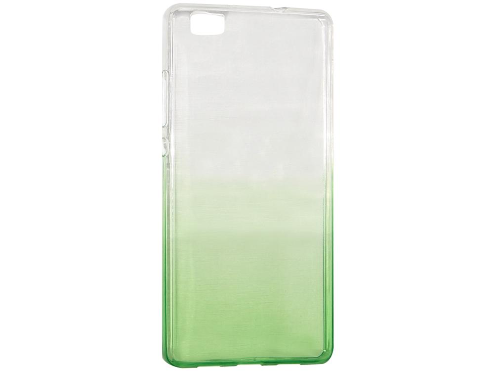 Крышка задняя для Huawei P8 Lite Силикон Зелёный не трогайте меня pattern мягкий тонкий тпу резиновый силиконовый гель дело чехол для huawei p8 lite