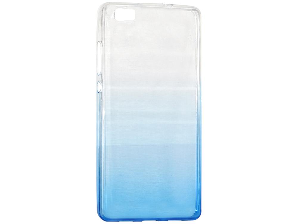 Крышка задняя для Huawei P8 Lite Силикон Синий не трогайте меня pattern мягкий тонкий тпу резиновый силиконовый гель дело чехол для huawei p8 lite