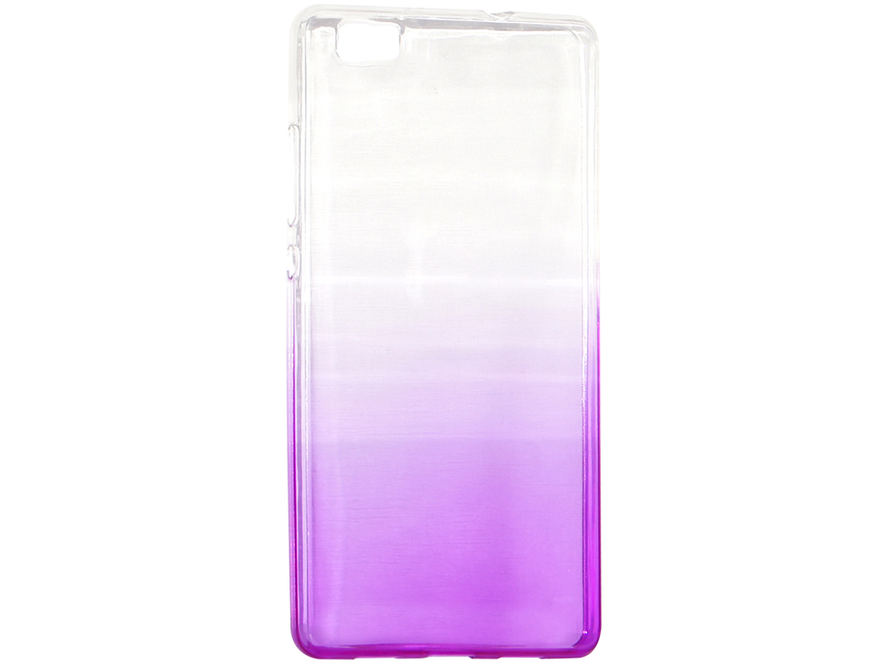 Крышка задняя для Huawei P8 Lite Силикон Фиолетовый не трогайте меня pattern мягкий тонкий тпу резиновый силиконовый гель дело чехол для huawei p8 lite