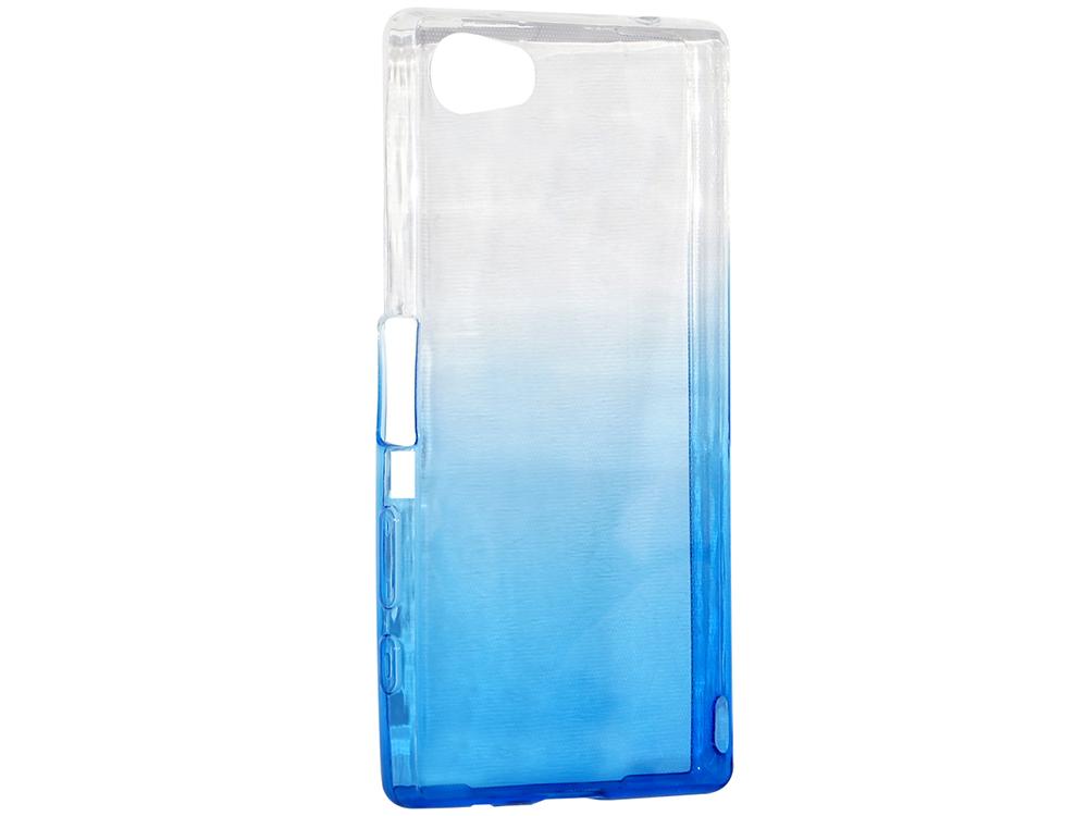 купить Крышка задняя для Sony Z5 MINI/Z5 COMPACT Силикон Синий дешево