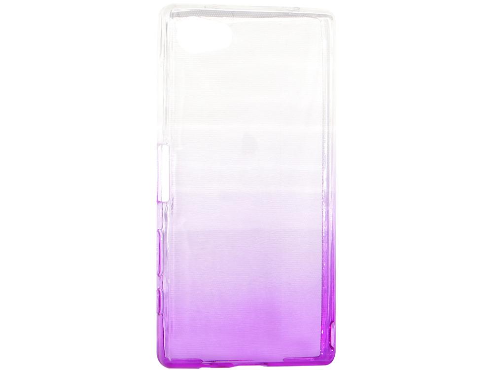 купить Крышка задняя для Sony Z5 MINI/Z5 COMPACT Силикон Фиолетовый дешево