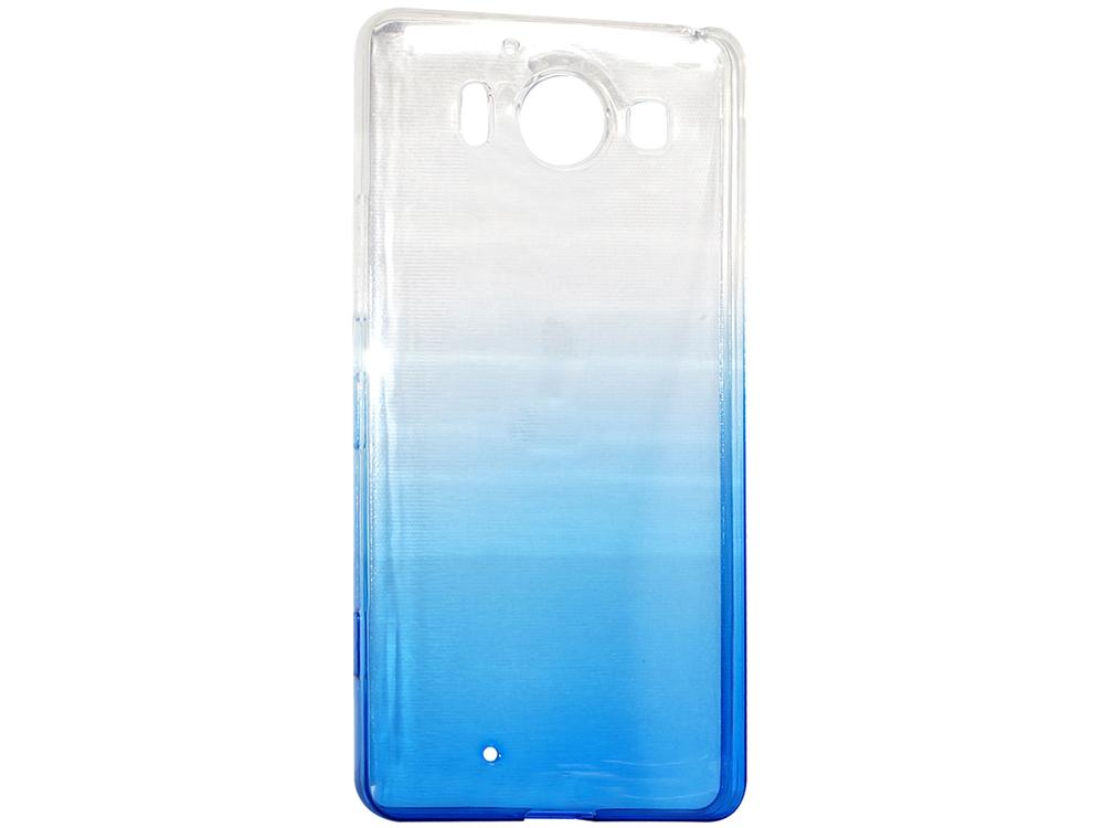 Крышка задняя для Nokia 950 Силикон Синий цена и фото