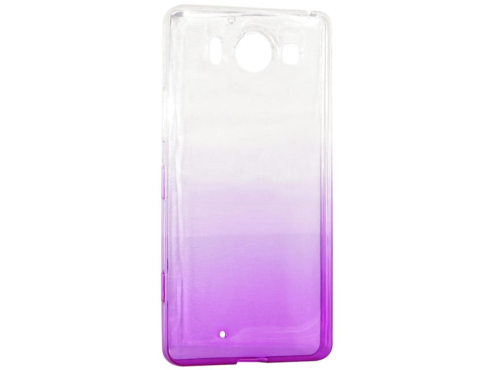 Крышка задняя для Nokia 950 Силикон Фиолетовый цена и фото