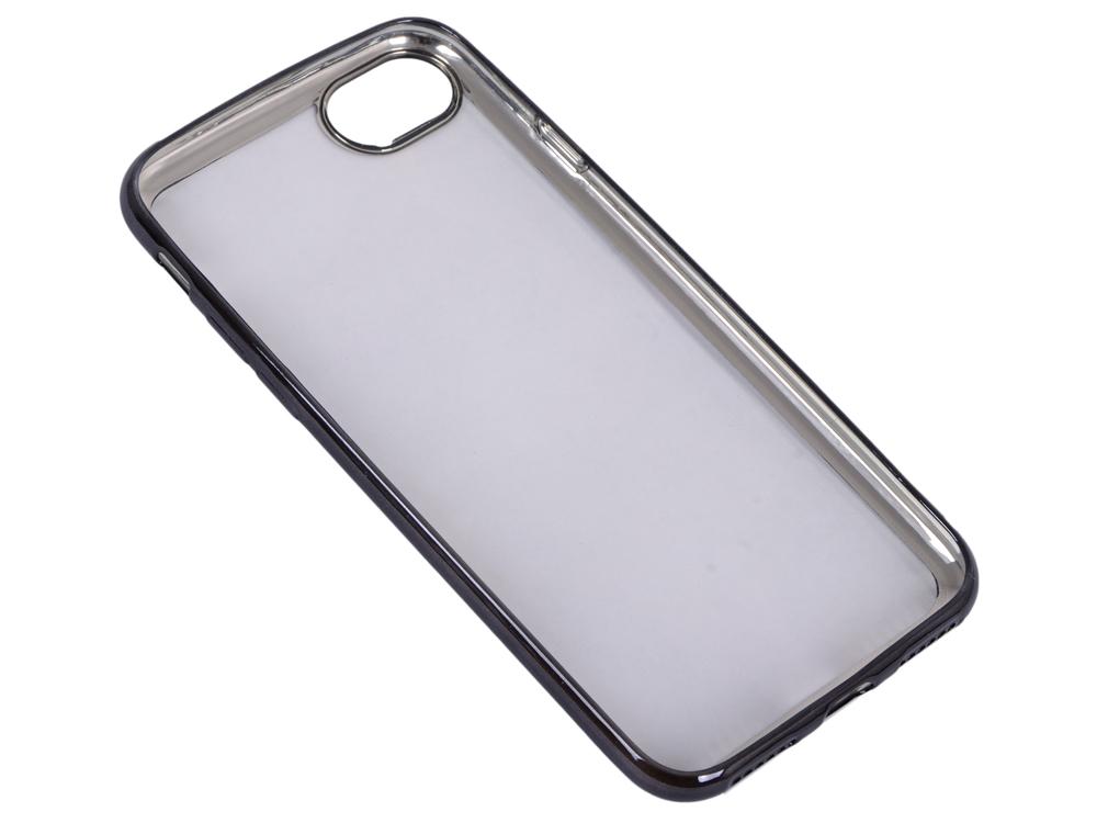 Силиконовый чехол с рамкой для iPhone 7 DF iCase-08 (black) все цены