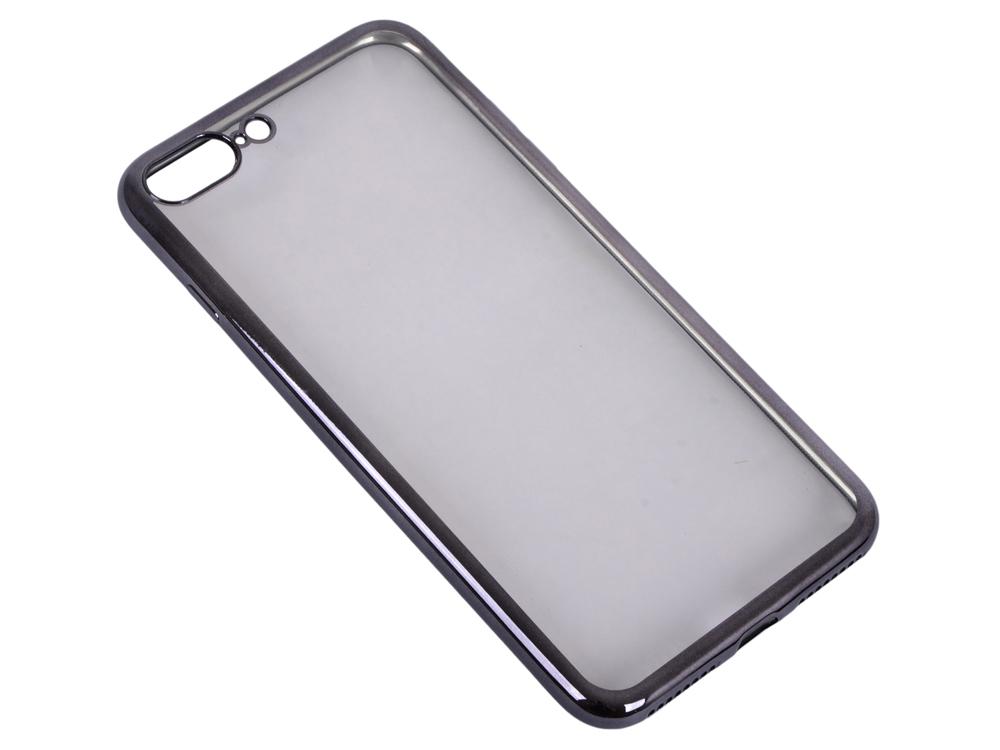 Силиконовый чехол с рамкой для iPhone 7 Plus DF iCase-09 (black)