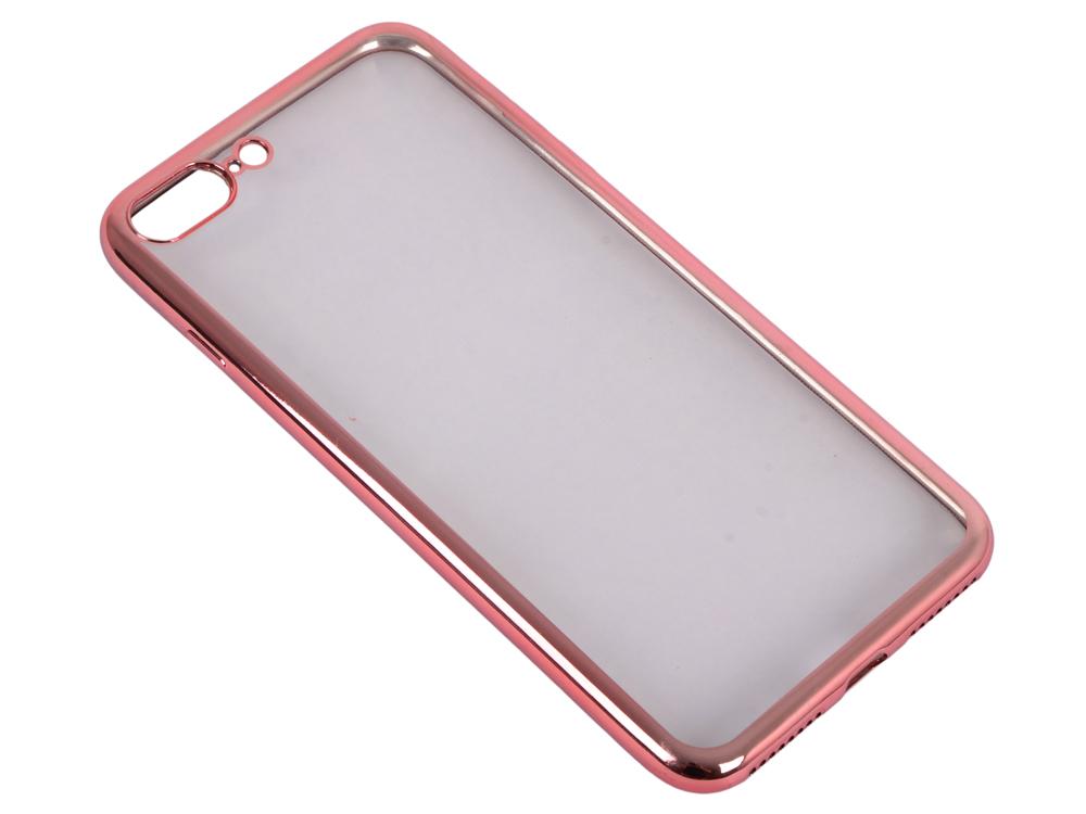 Силиконовый чехол с рамкой для iPhone 7 Plus DF iCase-09 (rose gold)