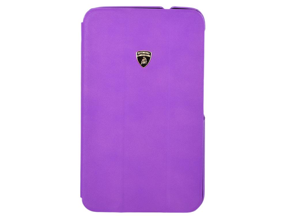 Чехол-книжка для G-Tab 3 8.0 Lamborghini Diablo Smart Cover Violet флип, кожа чехол книжка imobo lamborghini diablo для iphone 5c оранжевый
