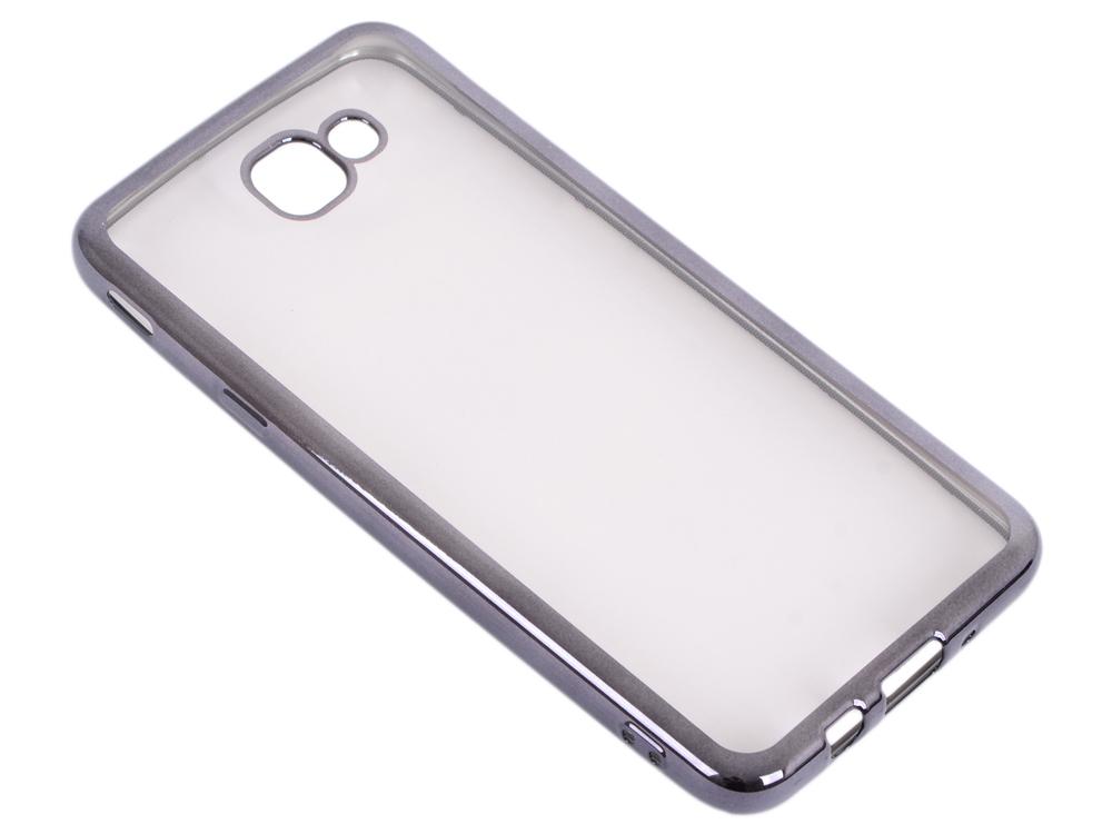 Силиконовый чехол с рамкой для Samsung Galaxy J5 Prime/ On5 (2016) DF sCase-37 (black) защитное стекло df scolor 11 для samsung galaxy j2 prime grand prime 2016 с рамкой черный