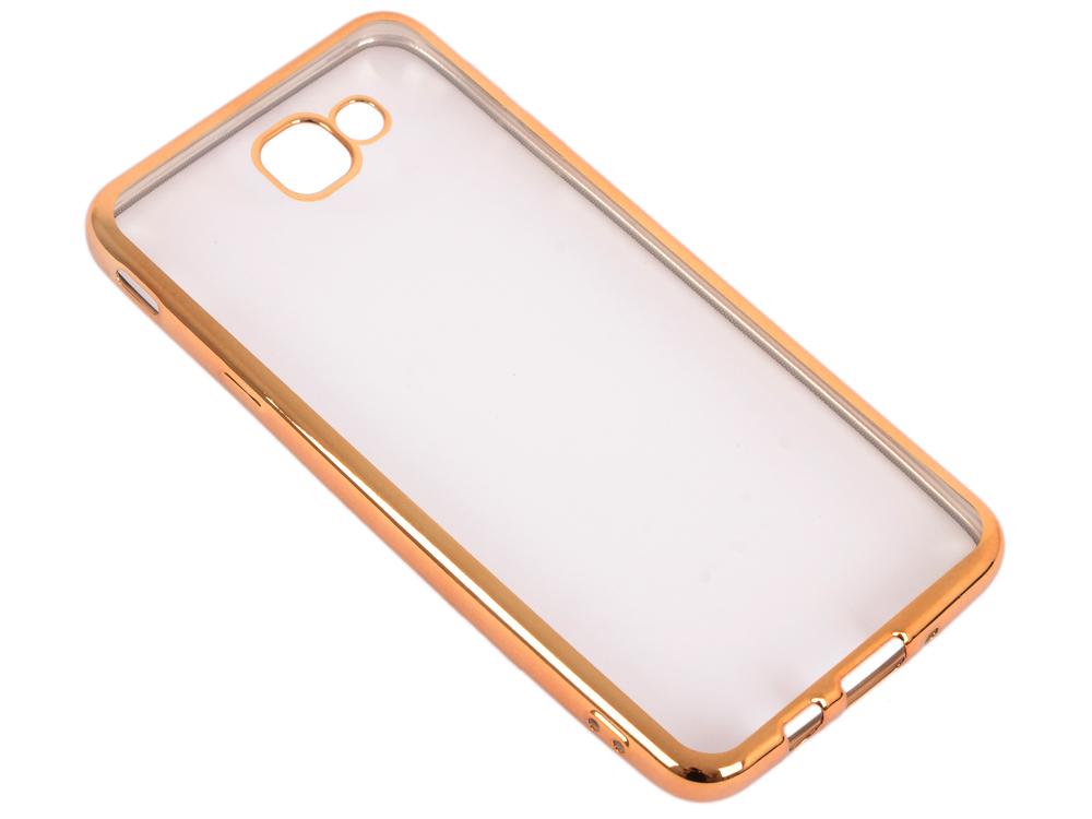 Силиконовый чехол с рамкой для Samsung Galaxy J5 Prime/ On5 (2016) DF sCase-37 (gold) защитное стекло df scolor 11 для samsung galaxy j2 prime grand prime 2016 с рамкой черный