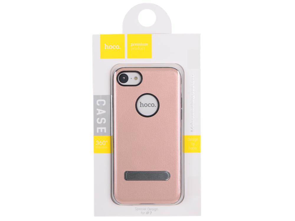 "Чехол для смартфона iPhone 7 ""HOCO"" Simple Series Pago Bracket Cover (розовое золото) 0L-00029277"