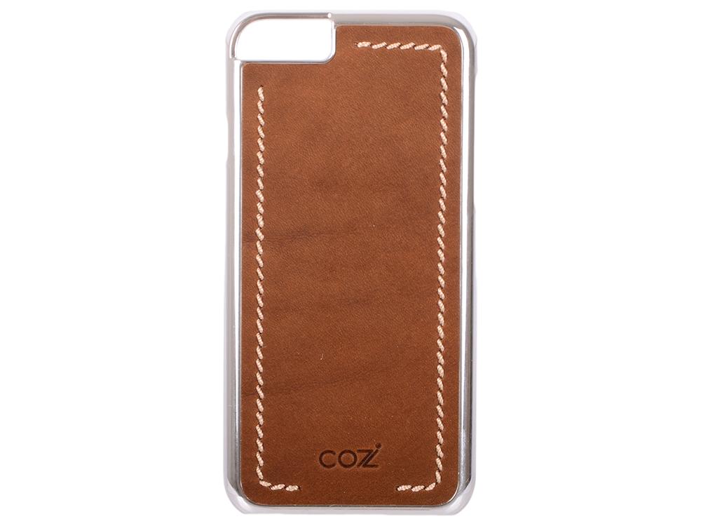 Накладка Cozistyle Leather Chrome Case для iPhone 6S коричневый серебристый CLCC6012 ремешок cozistyle wide leather band 42mm коричневый cwlb12