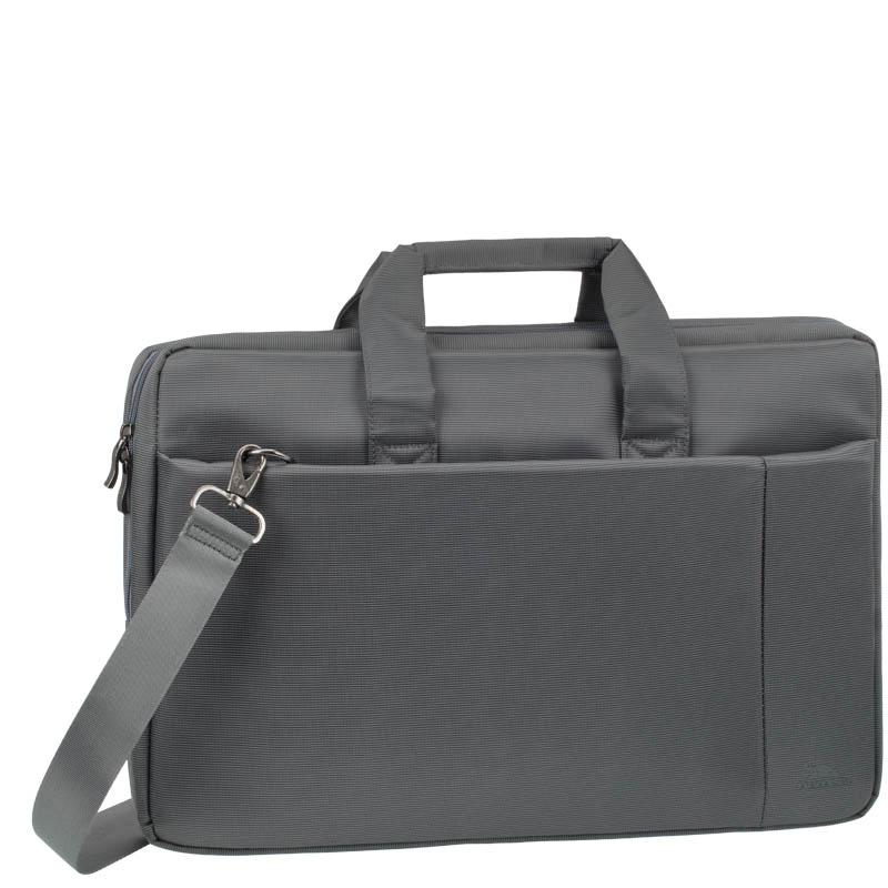 Сумка для ноутбука 17.3 Riva 8251 полиэстер серый сумка для ноутбука 15 6 jet a lb15 62 полиэстер серый