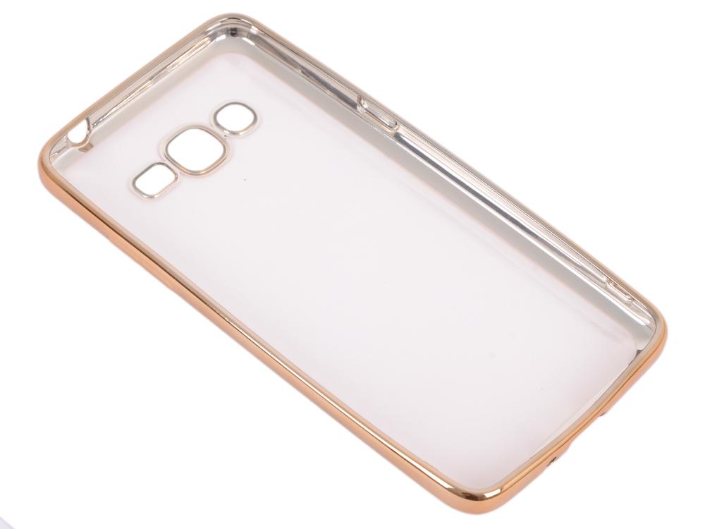 Силиконовый чехол с рамкой для Samsung Galaxy J2 Prime/Grand Prime (2016) DF sCase-36 (gold) защитное стекло df scolor 11 для samsung galaxy j2 prime grand prime 2016 с рамкой черный