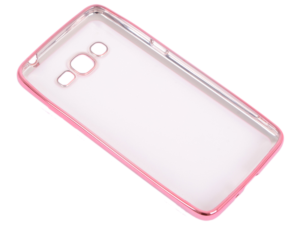 Силиконовый чехол с рамкой для Samsung Galaxy J2 Prime/Grand Prime (2016) DF sCase-36 (rose gold) диски dvd r verbatim 8 5gb 8x double layer cakebox 50шт 43758